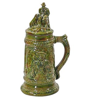 Antique German Majolica Beer Stein