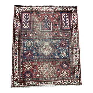 "Antique Kurdish Prayer Rug - 3'6"" x 4'4"""