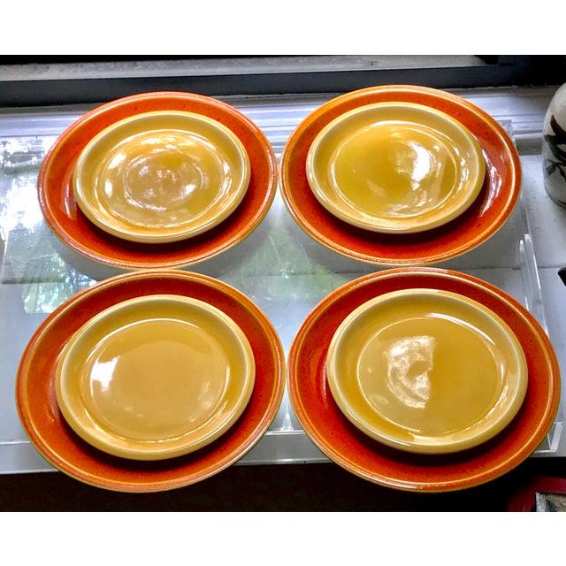 Jars of France Orange Dinner Plates & Yellow Salad Plates - 8 Pieces - Image 4 of 8