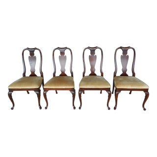 Councill Craftsmen Mahogany Queen Anne Dining Side Chairs - Set of 4