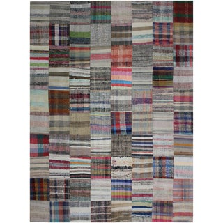 "Hand Knotted Patchwork Kilim - 9'9"" x 7'10"""