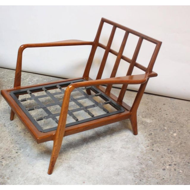 Pair of Mid-Century Walnut Armchairs and Ottoman by Mel Smilow - Image 8 of 11