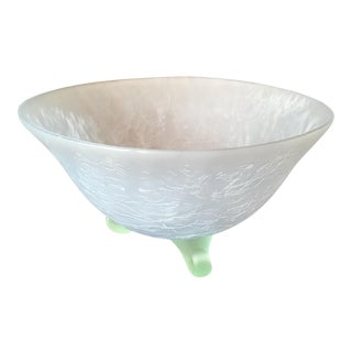 Light Blue & Mint Green Footed Bowl