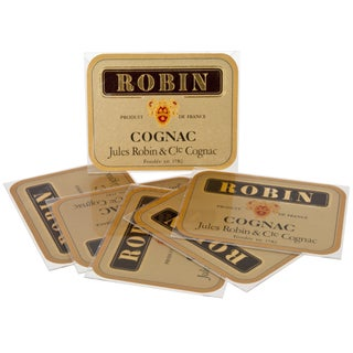 Vintage French Robin Cognac Coasters - Set of 6