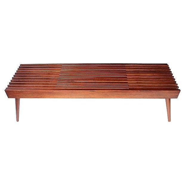 Walnut Expanding Slat Coffee Table Bench Chairish