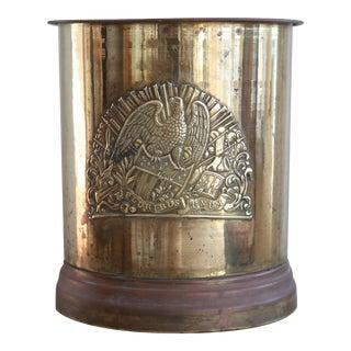 Antique American Eagle Brass Vessel