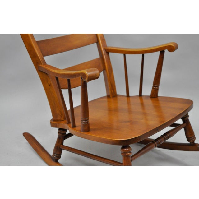Mid-Century Tell City Maple Sculptural Ladder Back Rocking Chair - Image 5 of 11