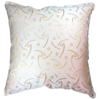 Natural Geo Abstract Pearl & Gold Throw Pillow