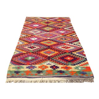Vintage Turkish Kilim Rug - 5′8″ × 9′3″