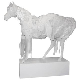 Lifesize Fiber Glass Art Horse