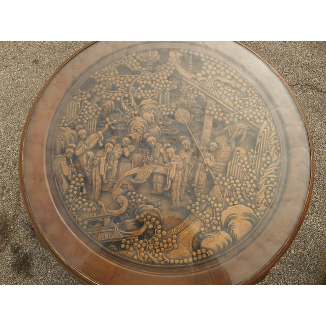 Vintage Japanese Hand Carved Tea Table Dining Set - Image 6 of 9