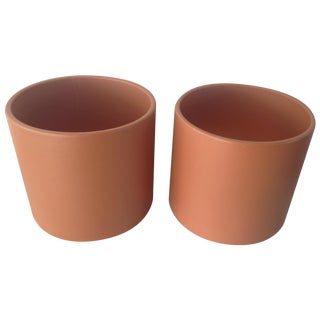 Large Mid-Century Gainey Ceramics Planters - Pair