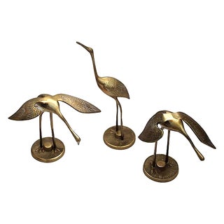 Brass Cranes - Set of 3