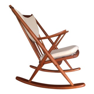 Danish Modern Teak Rocking Chair by Frank Reenskaug