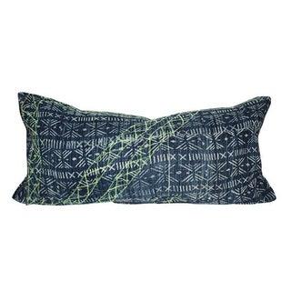 Vintage Embroidered Batik Lumbar Pillow
