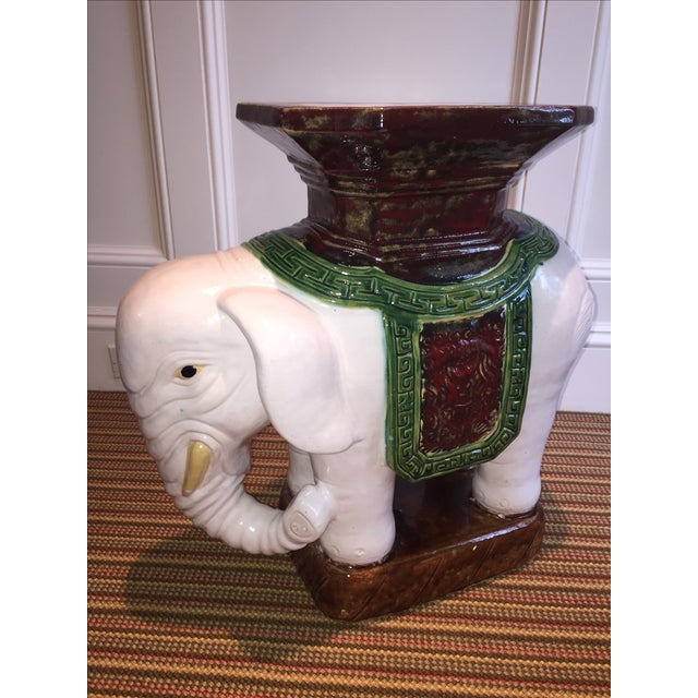 Green And Brown Elephant Garden Stool Chairish