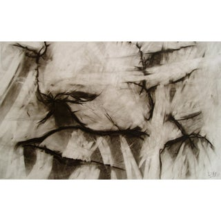 Conversation Alive Original Charcoal Drawing