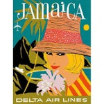 Image of Vintage Reproduction Jamaica Travel Poster
