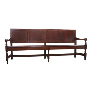 1930's Gothic Courtroom Bench