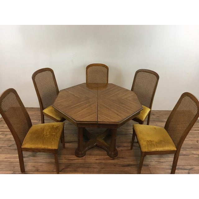 Vintage Dining Table & Cane Back Chairs - Image 6 of 7