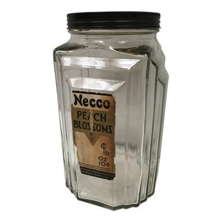 Vintage Art Deco Necco Candy Jar
