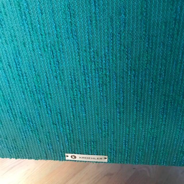 Teal Kroehler Slipper Chair - Image 5 of 8