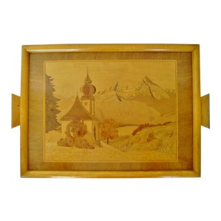 Vintage Inlay Wood Wall Hanging