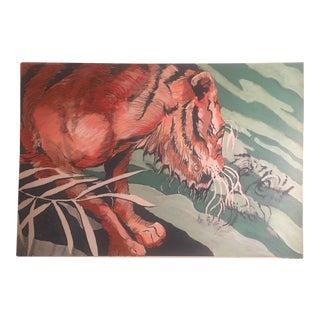 "Original Illustration Painting ""Old Wise Tiger"""