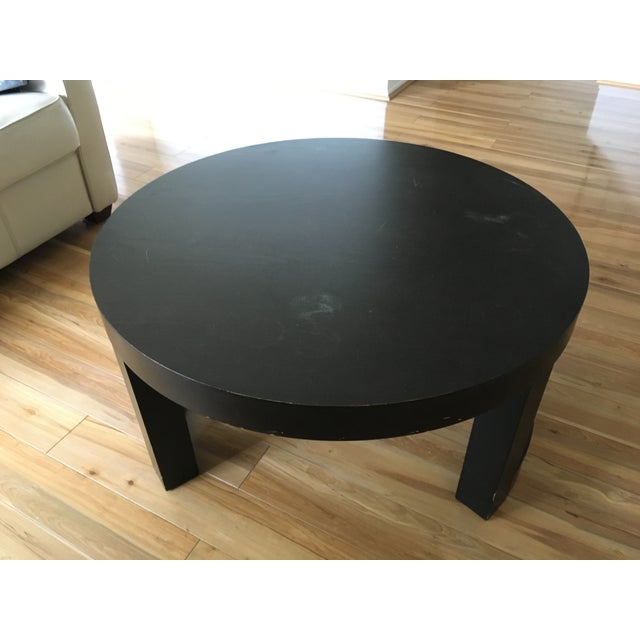 West elm round curved leg coffee table chairish for West elm coffee table sale