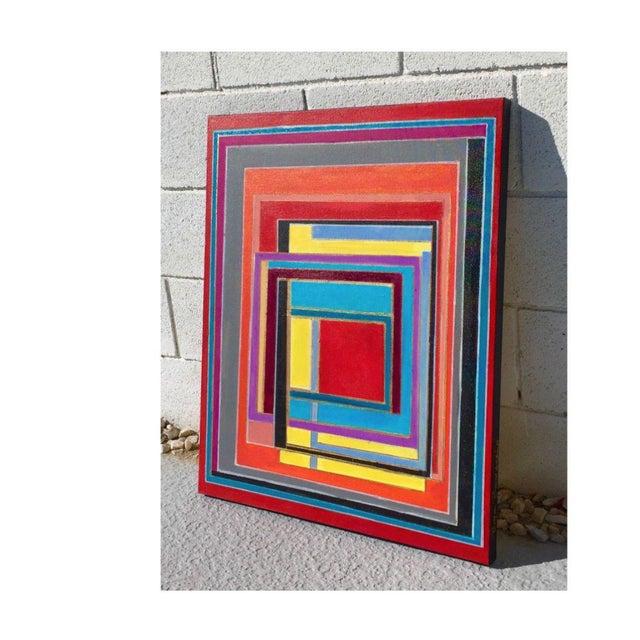 Bryan Boomershine Modern Block Graphic Painting - Image 2 of 5