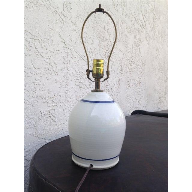 Stoneware Ceramic Lamp - Image 3 of 5