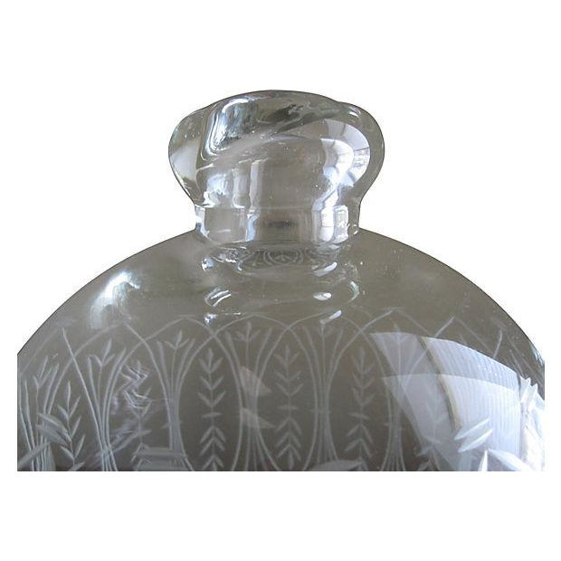 Vintage Etched Glass Nesting Domes - S/2 - Image 7 of 8