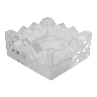 Lalique Art Deco Crystal Dish