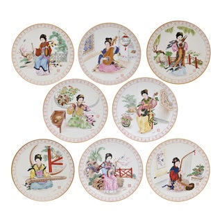 Musical Maidens of the Chinese Imperial Dynasties Decorative Plates - Set of 8