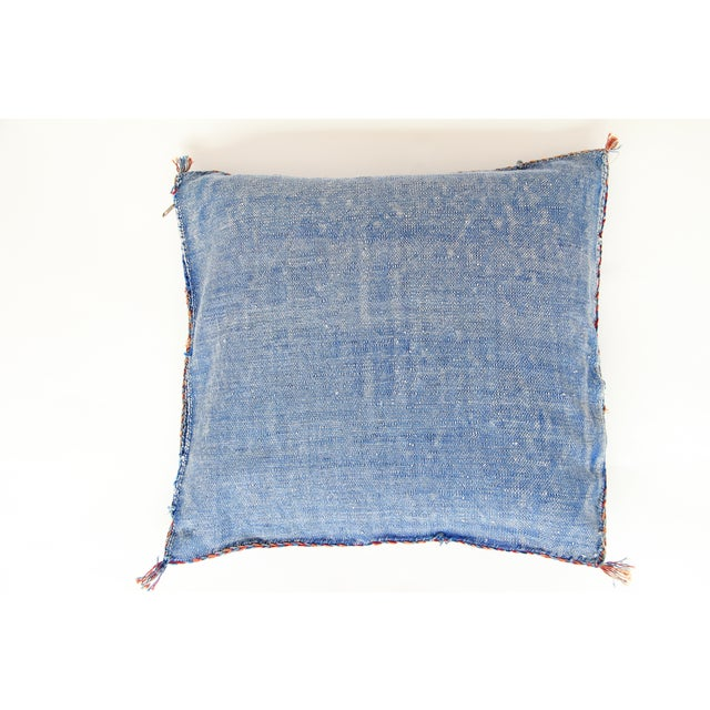 Blue & Yellow Moroccan Cactus Pillows - A Pair - Image 6 of 7