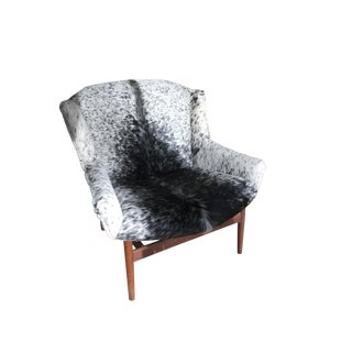 Early Jens Risom Cowhide Lounge Chair