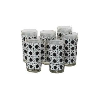 Cane Mid-Century Highball Glasses - Set of 6
