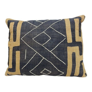 African White Beads Cloth Kuba Pillow