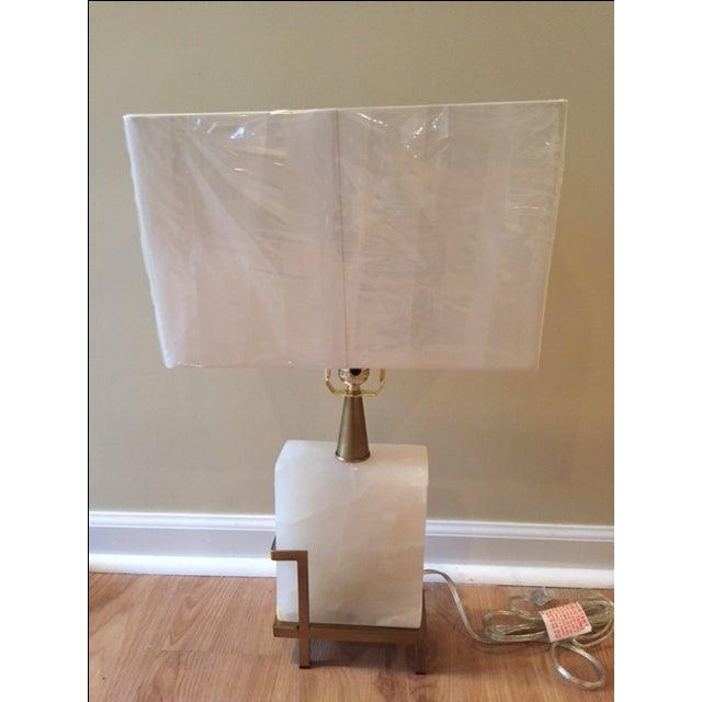 Image of Arteriors Herst Snow White Marble Lamp
