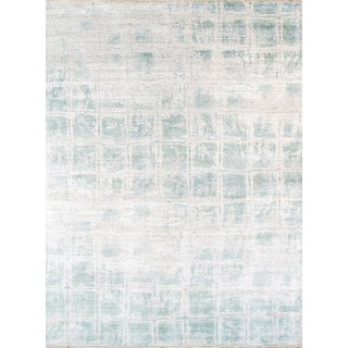 Pasargad's Aqua Silk Collection Rug  - 9' x 12'
