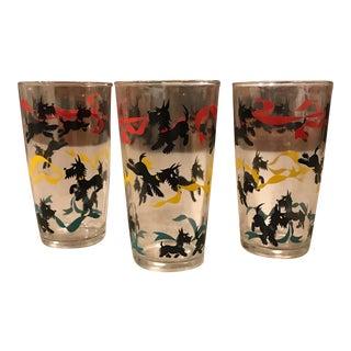 Mid-Century Dog Glasses - Set of 3