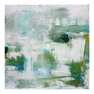 Abstract Original Oil Painting in Watery Tones by Paul Ashby