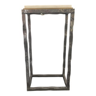 Modern Marble & Metal Sculpture Table