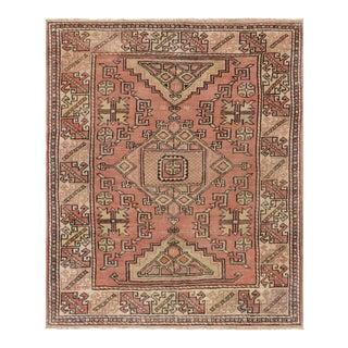 "Pasargad Vintage Oushak Wool Area Rug - 4' 4"" X 5' 2"""