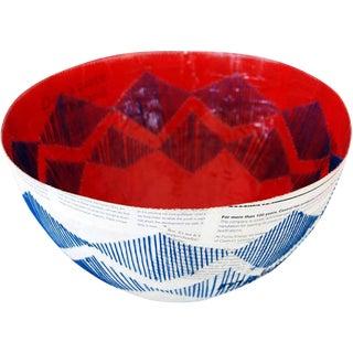 Stitched Paper Mache Bowl