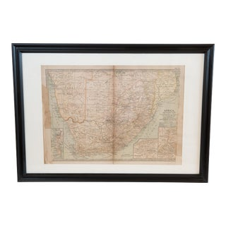 Antique Hand-Colored Northern Africa Map
