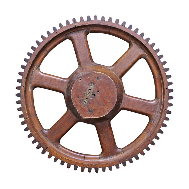 Vintage Wood Gear - Image 2 of 2