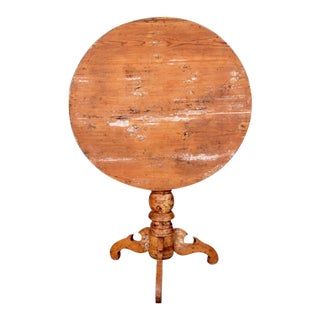 Early 19th Century Swedish Tilt Top Round Table