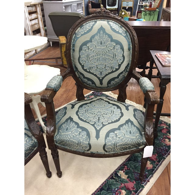 Image of Vintage French Provincial Louis XV Chairs - 2