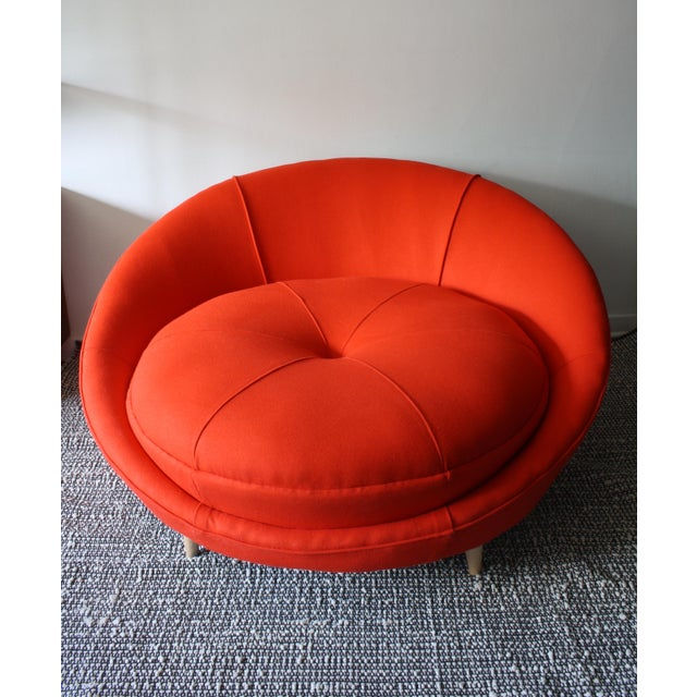 Milo Baughman Round Chaise Lounge - Image 2 of 10